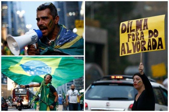 Photo of Protestas contra juicio a Rousseff bloquean carreteras en Brasil
