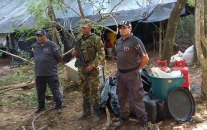 Ejército Nacional y CTI destruyen otro cristalizadero de coca en Monterrey