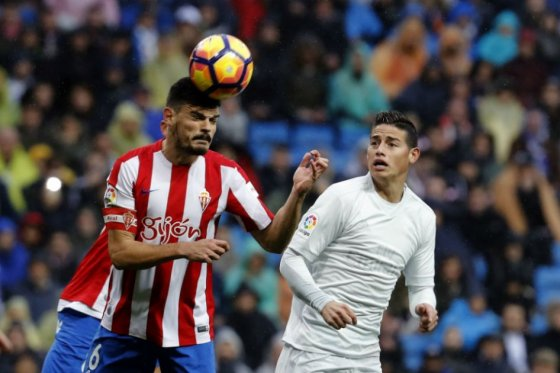 Photo of James volvió a la titular en la victoria del Madrid ante el Sporting de Gijón