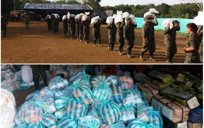 Farc envían dos toneladas de productos básicos a Mocoa