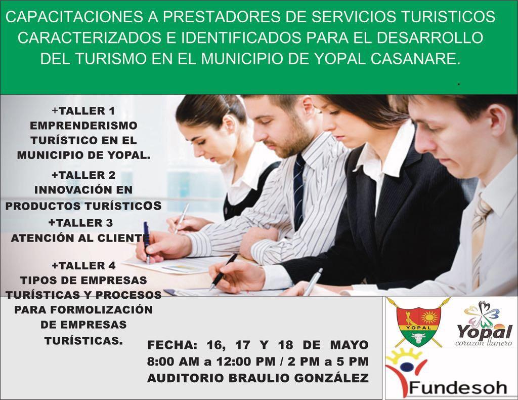Photo of Alcaldía de Yopal realiza capacitaciones para operadores del sector turismo