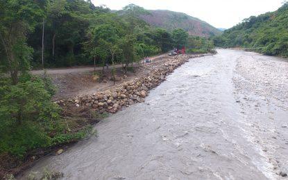 Ya se ha recuperado un 90% de la vía El Morro, tras pérdida de bancada en el sector Cafarnaúm