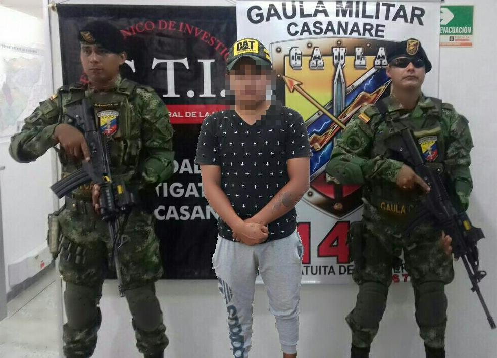 Photo of Capturan a presunto extorsionista en el municipio de paz de Ariporo-Casanare