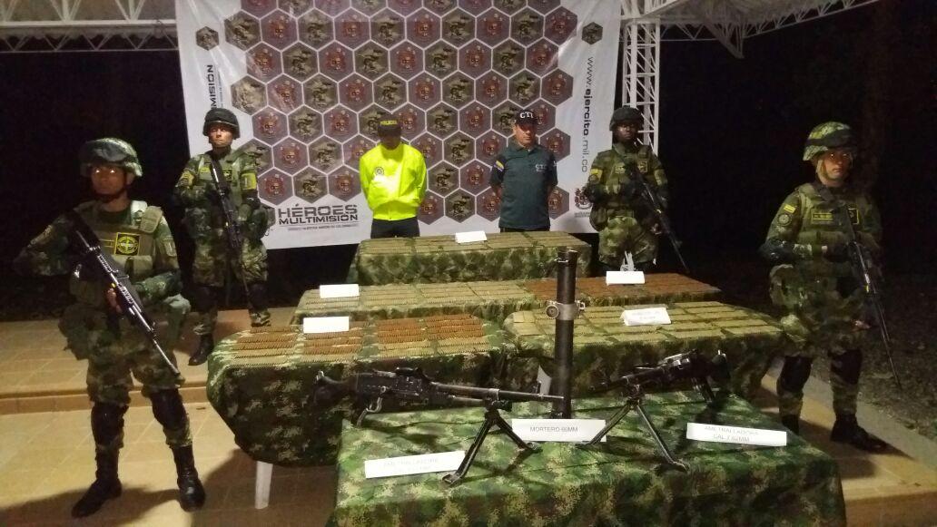 Photo of Incautado material de guerra perteneciente al Eln por el Ejército Nacional en Arauca