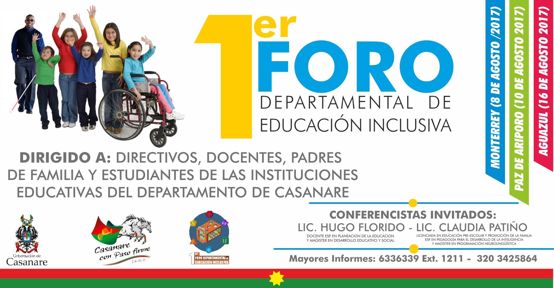 Photo of Se da inicio a la primera jornada del Foro Departamental de Educación Inclusiva en Monterrey