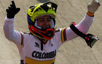 Mariana Pajón bate récord y se cuelga una nueva medalla de oro