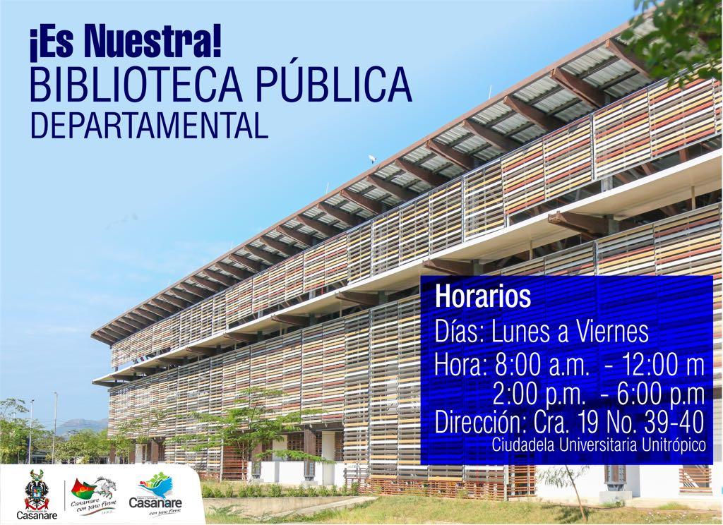 Photo of Administración departamental invita a los casanareños a hacer uso desde este 5 de febrero, de la Biblioteca Pública Departamental