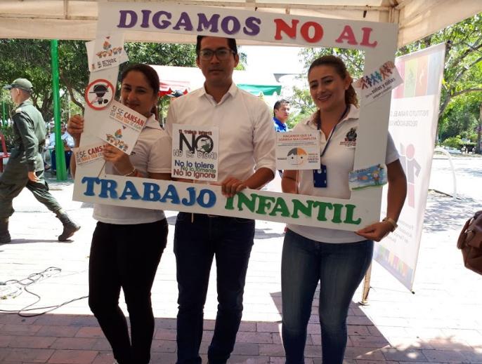 """Photo of Administración departamental se une a la campaña """"presentes contra el trabajo infantil"""""""