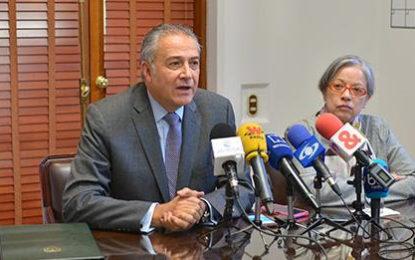 Oscar Naranjo, Vicepresidente de la República indica que el Gobierno brindará seguridad a todos los candidatos sin importar su partido