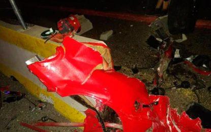 Prófugo conductor de Ferrari accidentado en México en el que murieron dos colombianas