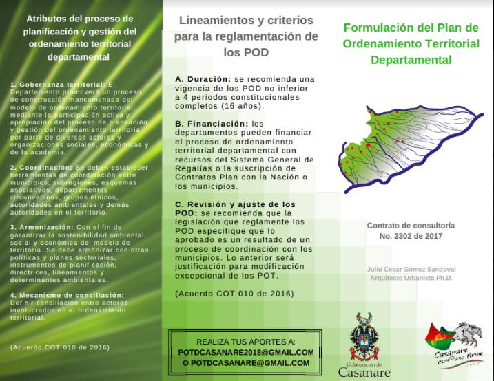 Photo of Foro sobre Plan de Ordenamiento Territorial Departamental se llevará a cabo este miércoles 07 de marzo