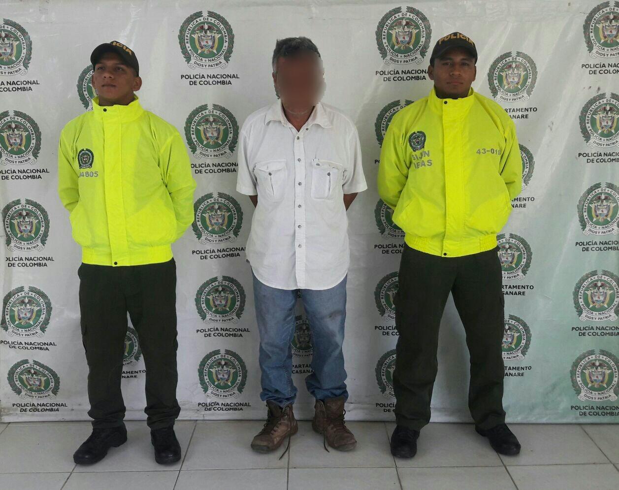 Photo of Hombre de 51 años fue capturado en el municipio de Aguazul, por violencia intrafamiliar y acceso carnal violento