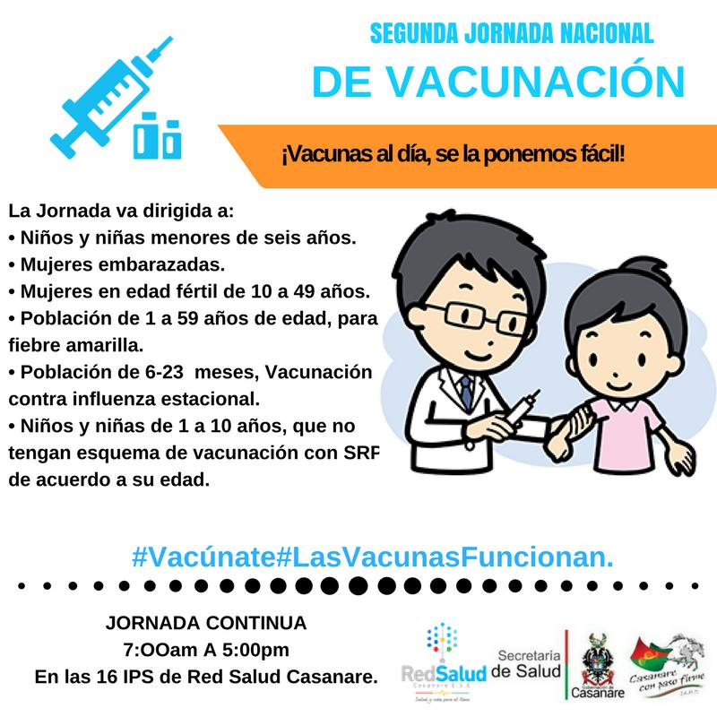 Photo of Estos son los puntos que habilitará red salud Casanare para la segunda jornada nacionalde vacunación.