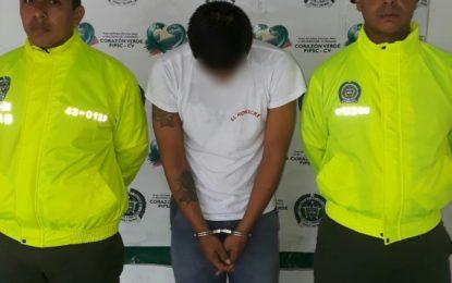Policía Casanare captura a un hombre por hurto calificado y agravado