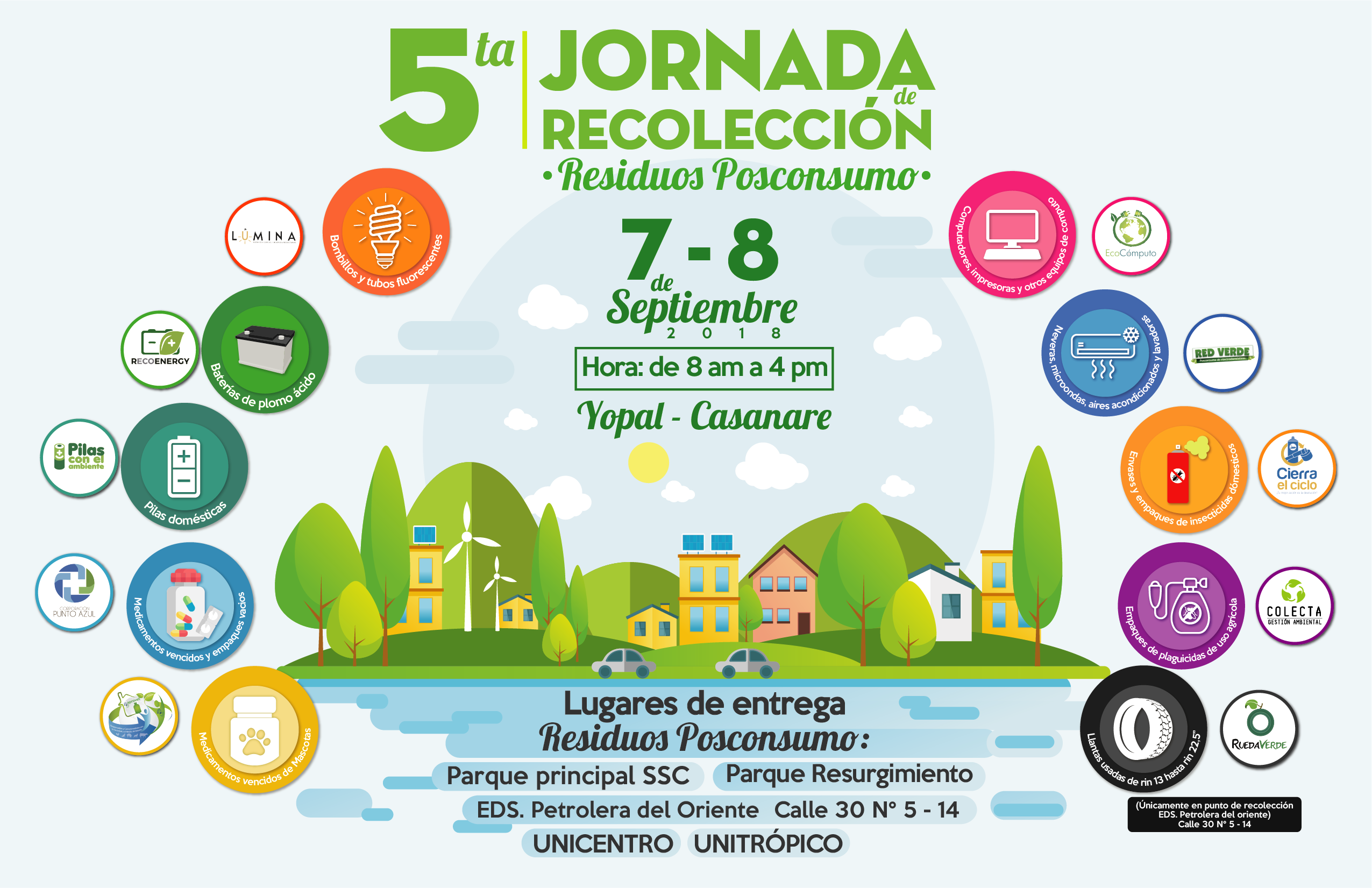 Photo of Participa en la 5ta Jornada de Recolección de Residuos Posconsumo en Casanare este 7 y 8 de septiembre