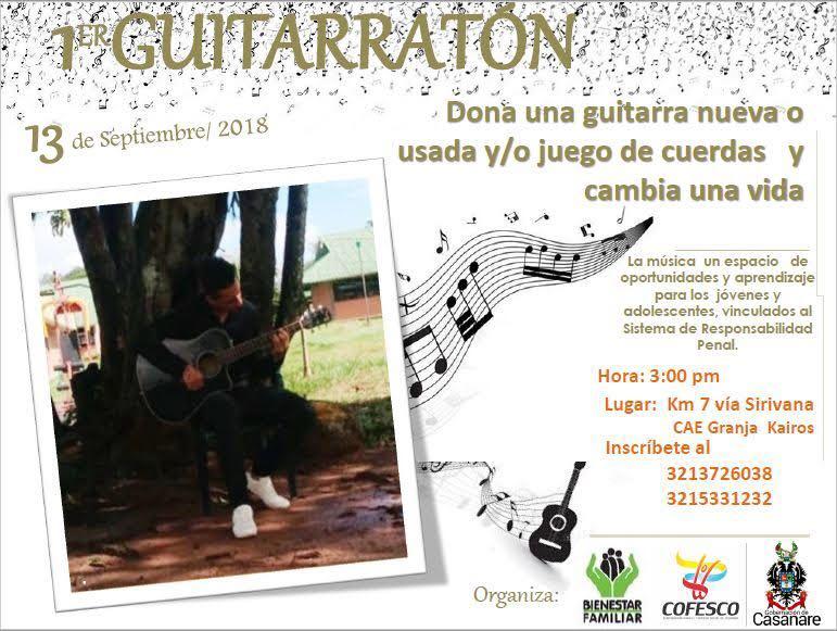 """Photo of """"Primera Guitarratón Restaurativa"""": Campaña liderada por la Gobernación de Casanare e integrantes del Sistema de Responsabilidad Penal para Adolescentes"""