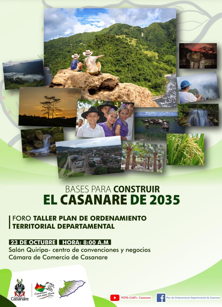 """Photo of Este 23 de octubre foro""""Bases Para Construir el Casanare de 2035"""""""