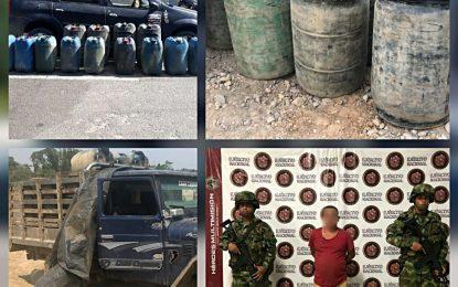 Ejército Nacional incauto 680 galones de gasolina de contrabando, en zona rural de Tame Arauca