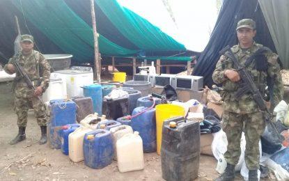 En Orocué, Ejército Nacional halló cristalizadero para el procesamiento de alcaloides