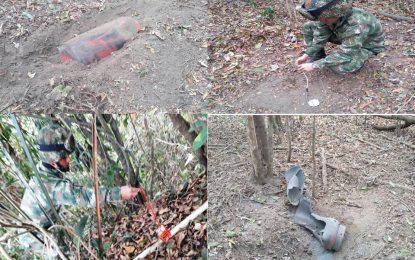 En Casanare, Ejército Nacional destruye artefactos explosivos instalados por el ELN