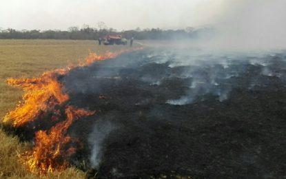 Para prevenir incendios, invitan a no realizar quemas con fines agrícolas