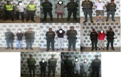 En Casanare, Policía Nacional capturó a 9 personas por diferentes delitos