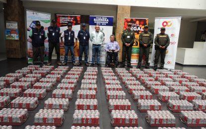 Duro golpe al contrabando de licor en Sabanalarga
