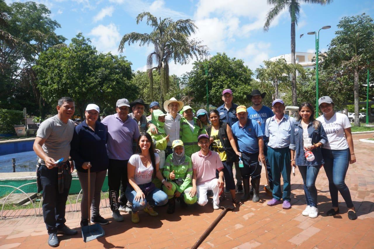 Photo of Se realizó jornada de ornato, limpieza, pintura y embellecimiento del parque Santander de Yopal