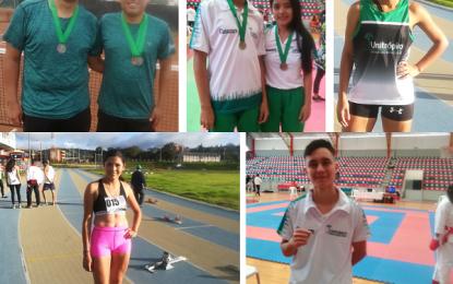 Deportistas de Unitrópico llegaron al pódium con 8 medallas en los juegos regionales