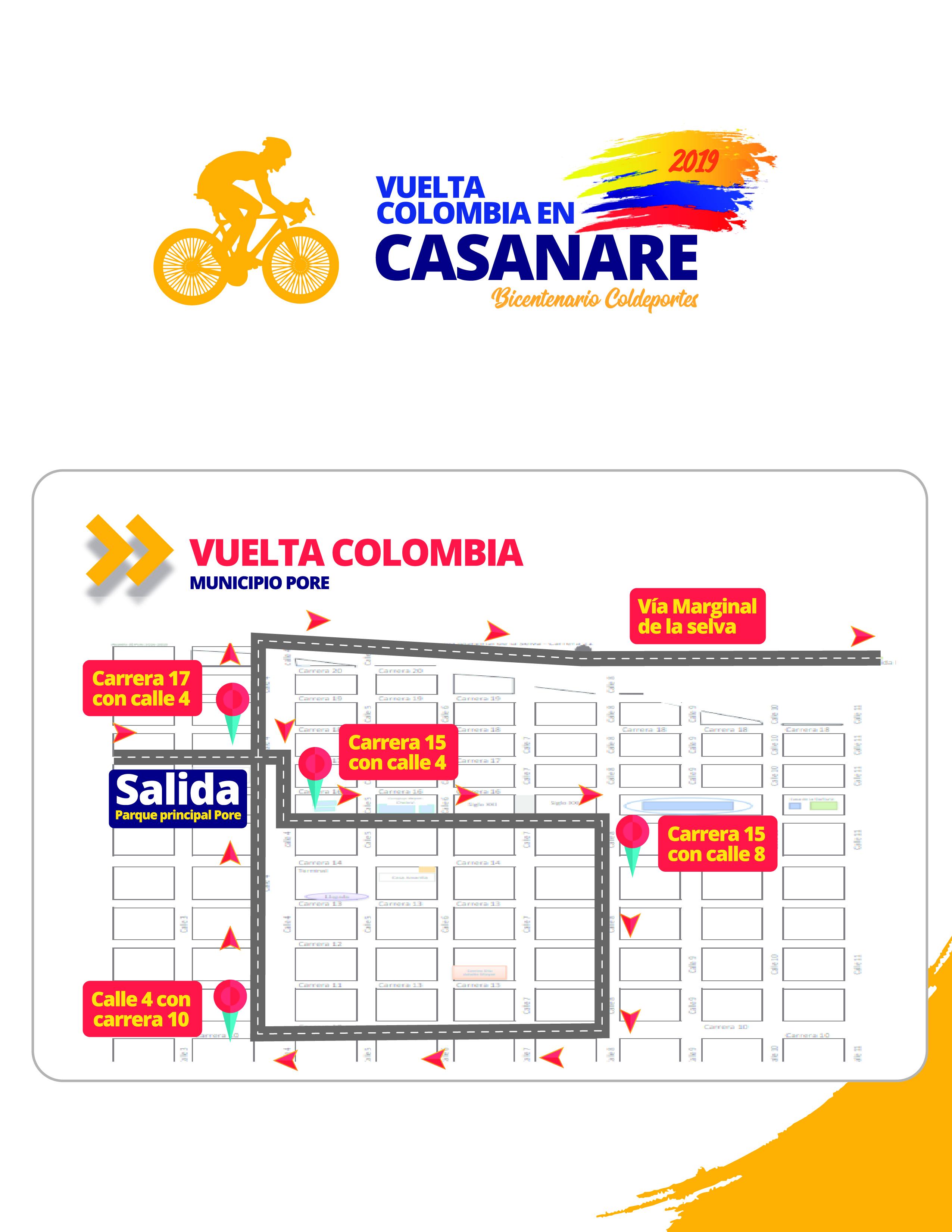 Photo of Esta será la Ruta de la Primera Vuelta Colombia en Casanare