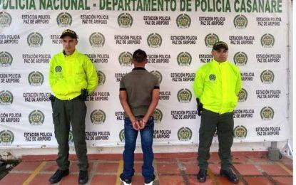 En Paz de Ariporo, fue capturado hombre que golpeó, abuso sexual y causó heridas a su expareja