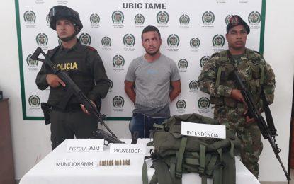 En Arauca fue capturado alias 'wilmer', al parecer es un importante explosivista del Gao Residual Estructura Primera