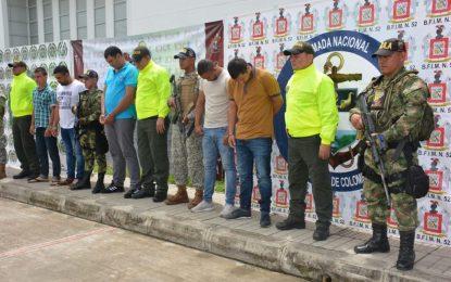 Fueron capturados 5 presuntos integrantes del GAO residual estructura primera en Arauquita, Arauca