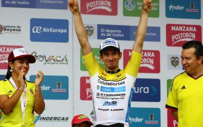 William David Muñoz ganador de la primera etapa de la Vuelta a Colombia Bicentenario Casanare Coldeportes