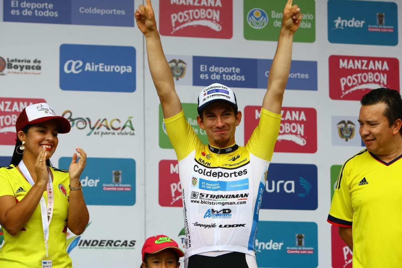 Photo of William David Muñoz ganador de la primera etapa de la Vuelta a Colombia Bicentenario Casanare Coldeportes