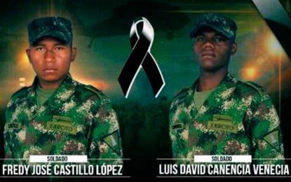 Soldados oriundos de la costa, víctimas de atentado contra patrulla militar en Arauca