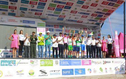 Óscar Sevilla del equipo Team Medellín ganó el prólogo de la Vuelta Colombia Casanare Bicentenario Coldeportes 2019