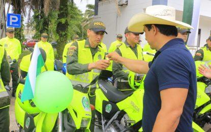 En Yopal, Gobernación entregó 39 motociclistas a la Policía Casanare