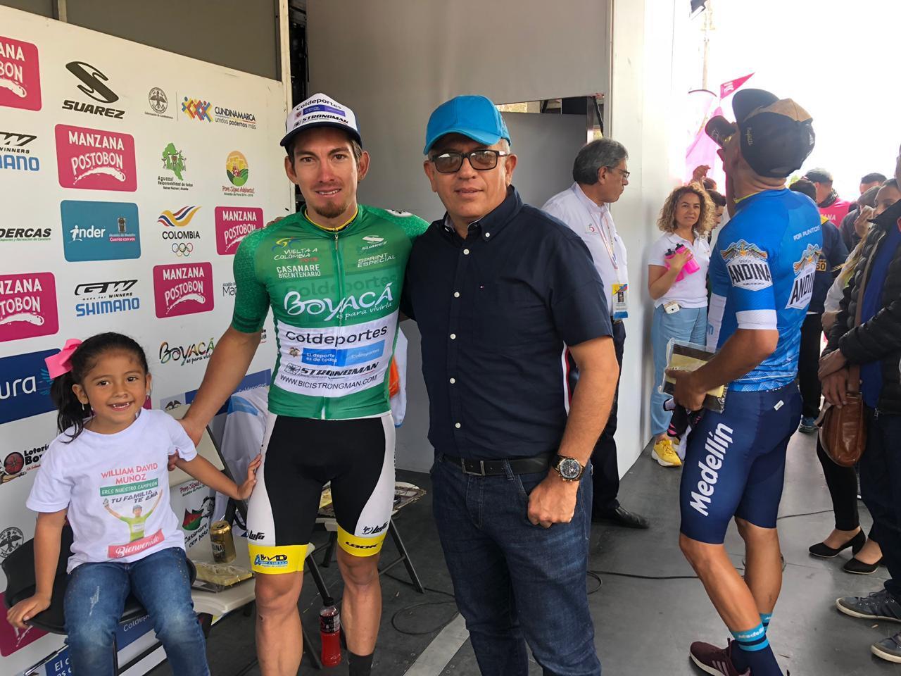 Photo of William Muñoz campeón de los Sprints en la Vuelta Colombia Casanare Bicentenario Coldeportes