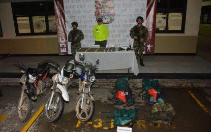Municiones, granadas, armas y elementos de guerra fueron hallados en Arauca