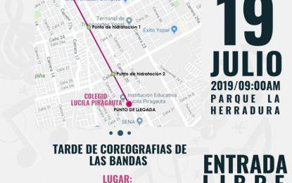 El 19 de julio, Yopal vivirá el encuentro nacional de bandas de marcha