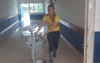 Hospital de Paz de Ariporo se inundó por las fuertes lluvias