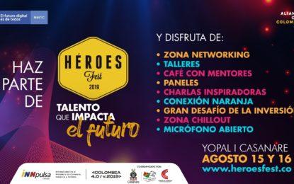 Este jueves 15 se abre el campo de entrenamiento de Héroes Fest en Yopal