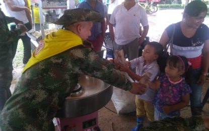 Ejército nacional acompañó a la comunidad