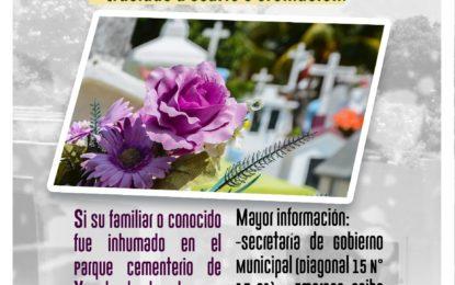 En Yopal, iniciaran proceso de exhumación en Parque Cementerio
