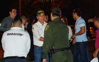 Control en el parque la iguana de Yopal