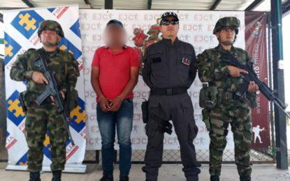 Ejército Nacional captura en Arauca a importante explosivista del Eln