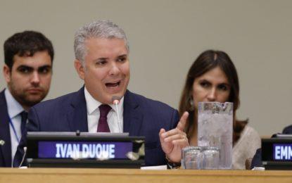 En la ONU, Duque busca una gran coalición para proteger los bosques