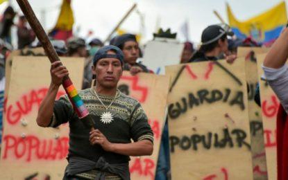 Indígenas ecuatorianos se mantienen en pie de lucha