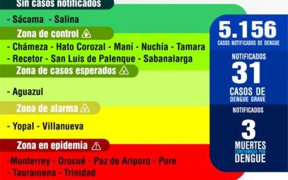 5.156 casos de dengue en Casanare durante 2019
